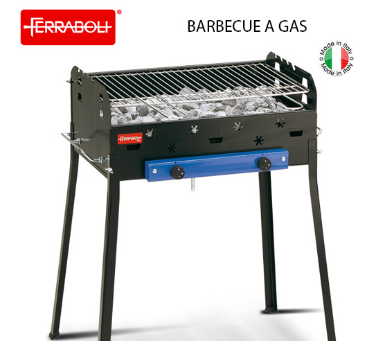 Barbecue a gas sistema roccia lavica ferraboli roccia gas for Giordano shop barbecue a gas