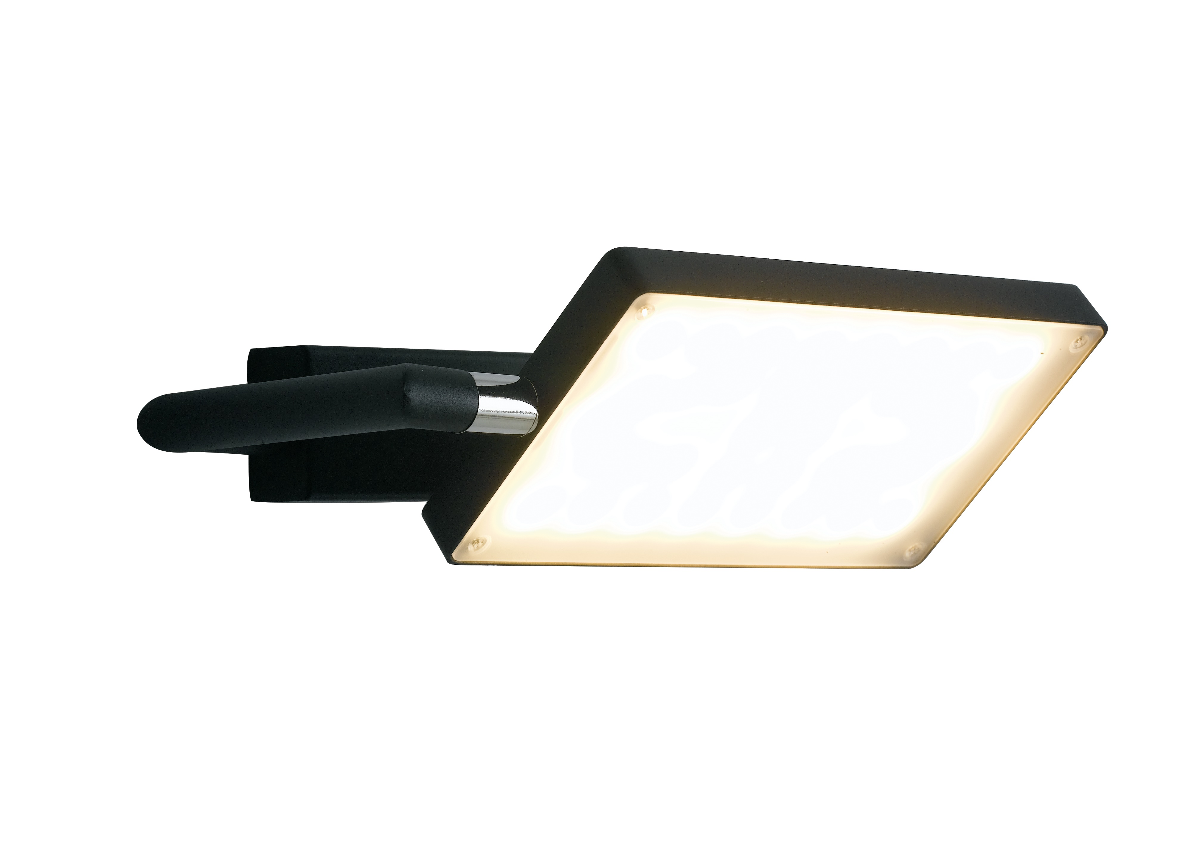 Applique Orientabile Alluminio Lampada Libro Nera Led 17 watt Luce Calda Ambiente LED-BOOK-AP